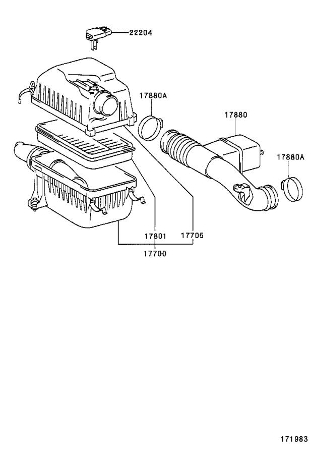toyota tundra air filter and housing