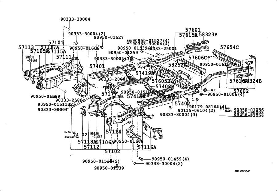 Toyota Camry Reinforcement  Front Bumper Mounting