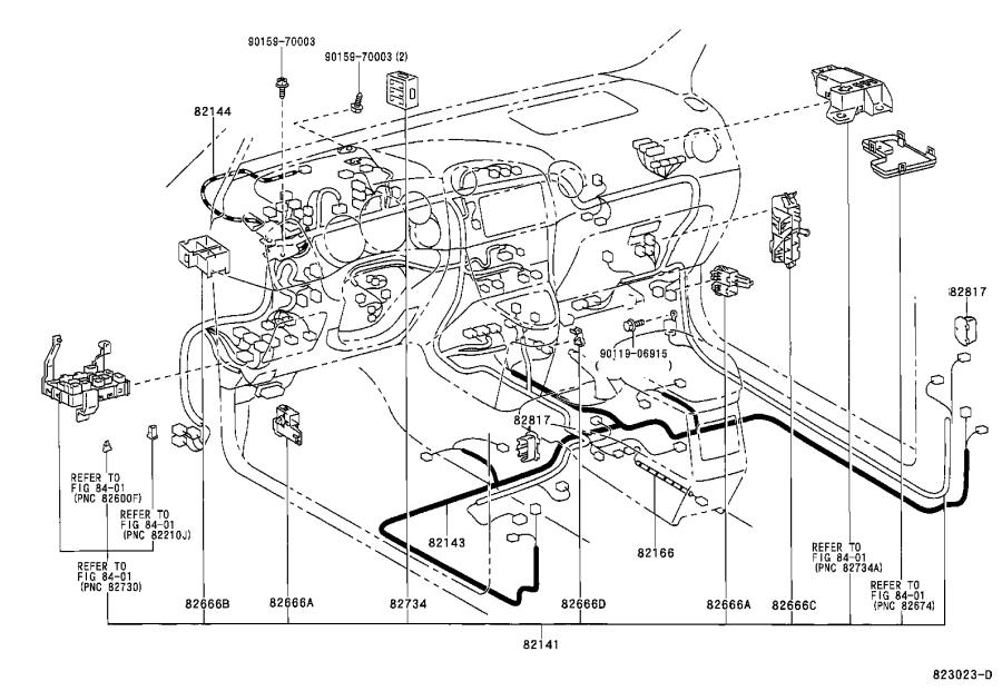 toyota corolla wire  front door  right  wiring  clamp