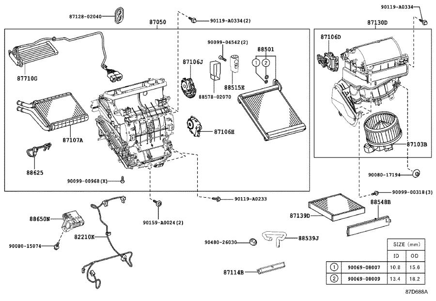 Toyota Corolla Hvac System Wiring Harness  Harness  Air