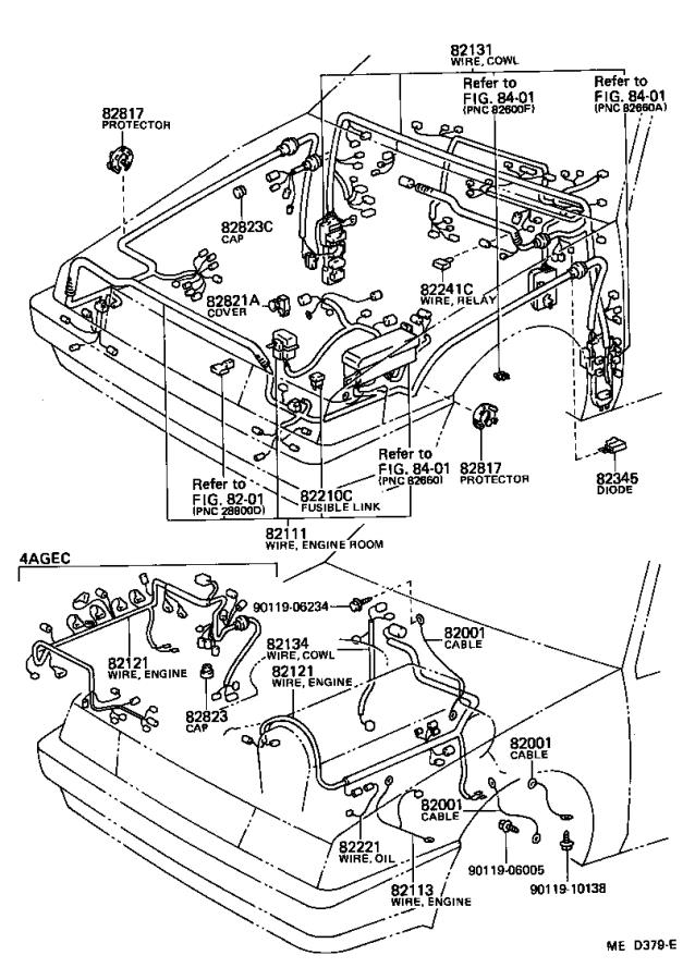 Toyota Corolla Fusible Link  Clamp  Diode  Wire